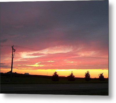 Nebraska Sunset Metal Print by Adam Cornelison