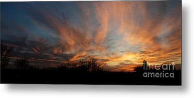 Nebraska Sunset Metal Print by Art Whitton
