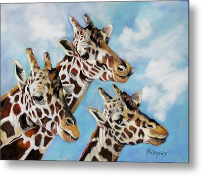 Metal Print featuring the painting Neck And Neck by Rae Andrews