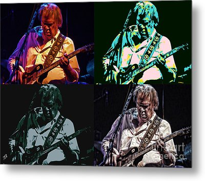 Neil Young Pop Metal Print by Tommy Anderson