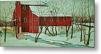 Nelsonville Mill Metal Print by Carolyn Rosenberger