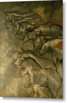 Neolithic Horses Metal Print by John Connaughton