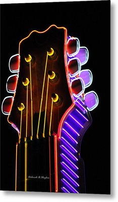 Neon Bridge Metal Print