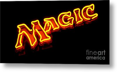 Neon Magic Metal Print by Steven Milner