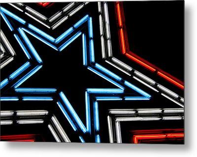 Neon Star Metal Print by Darren Fisher