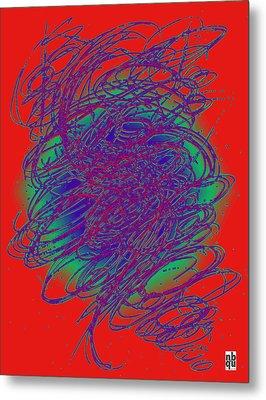 Neon Poster. Metal Print