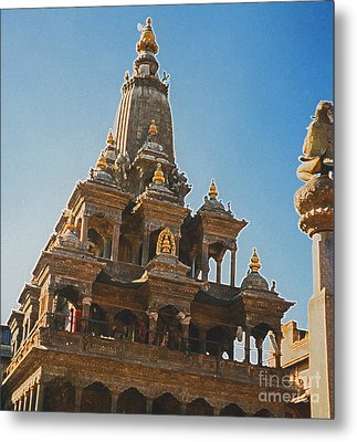 Nepal Temple 2 Metal Print by First Star Art