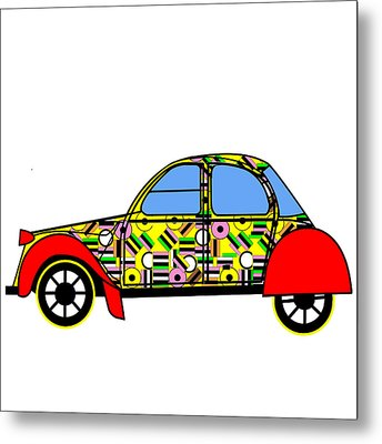 Nerds Car - Virtual Cars Metal Print by Asbjorn Lonvig