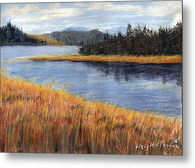 Metal Print featuring the painting Nestucca River And Bay  by Chriss Pagani