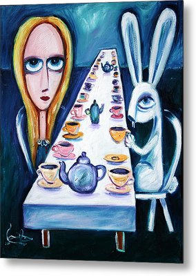 Never Ending Tea Party Metal Print by Leanne Wilkes