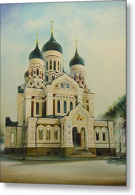Nevsky Catedral Metal Print by Ahto Laadoga