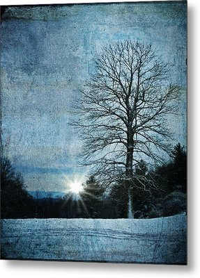 New Blue Sunrise Metal Print
