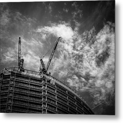 Metal Print featuring the photograph New Buildings by Lenny Carter