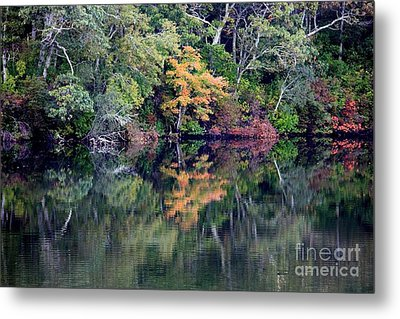 New England Fall Reflection Metal Print by Carol Groenen
