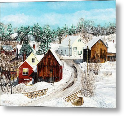 New England Winter Metal Print by Stuart B Yaeger