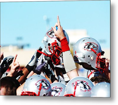New Mexico Football Huddle Metal Print
