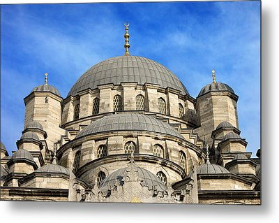 New Mosque Domes In Istanbul Metal Print by Artur Bogacki