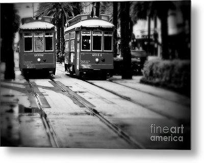 New Orleans Classic Streetcars. Metal Print by Perry Webster