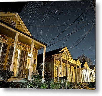 Metal Print featuring the photograph New Orleans Star Trails by Ray Devlin