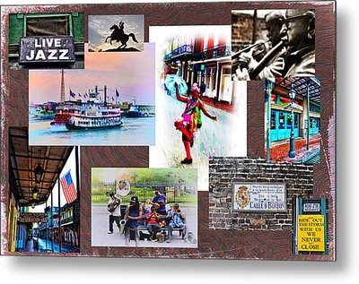 New Orleans The Birthplace Of Jazz Metal Print by Bill Cannon