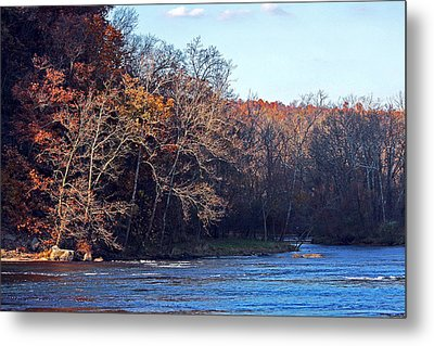 New River At Foster Falls Metal Print by Denise Romano