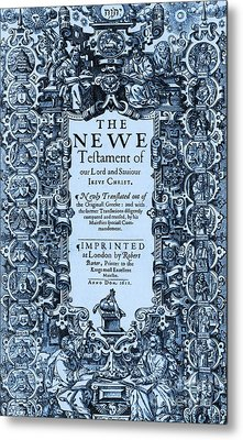 New Testament, King James Bible Metal Print by Photo Researchers