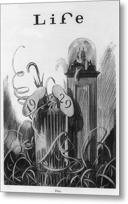 New Years Cartoon Related To The 1929 Metal Print by Everett