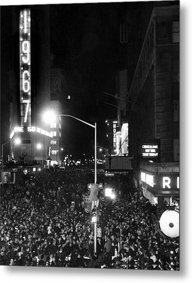 New Years Eve Celebration In Times Metal Print by Everett