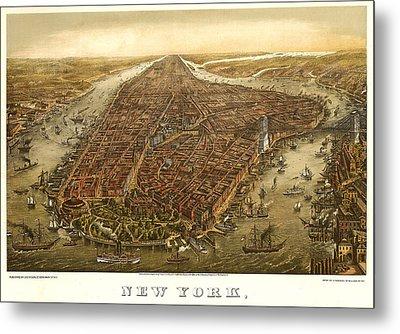 New York 1873 Metal Print by Donna Leach