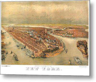 New York 1874 Metal Print by Donna Leach