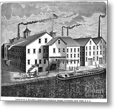 New York: Chemical Works Metal Print by Granger