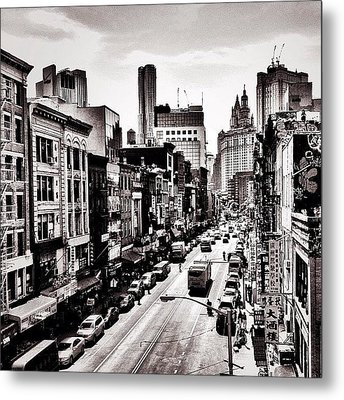 New York City - Above Chinatown Metal Print by Vivienne Gucwa