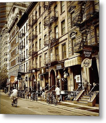 New York City - Back In Time Metal Print by Vivienne Gucwa