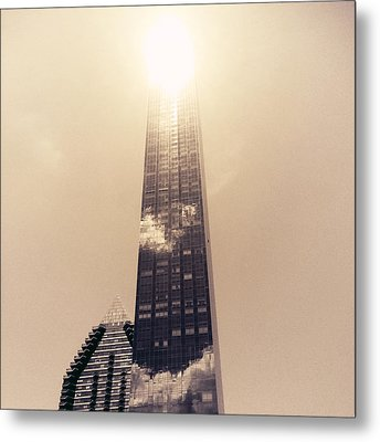New York City Glimmers And Reflections Metal Print