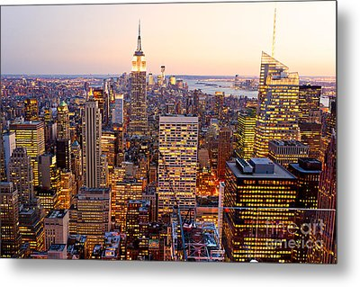 Metal Print featuring the photograph New York City by Luciano Mortula
