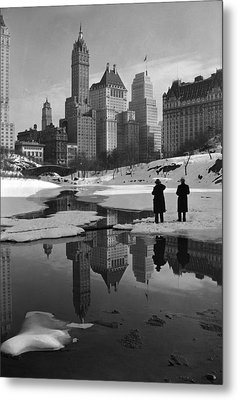 New York City, Plaza Buildings Metal Print by Everett