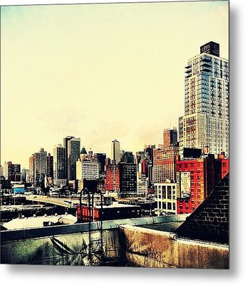 New York City Rooftops Metal Print by Vivienne Gucwa