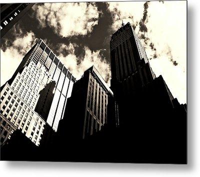New York City Skyscrapers Metal Print by Vivienne Gucwa