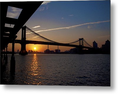 New York City Sunrise Metal Print by Bill Cannon