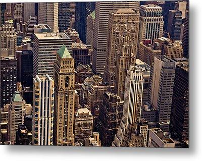 New York City Urban Landscape Metal Print by Vivienne Gucwa