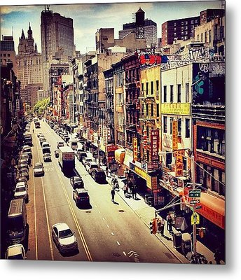 New York City's Chinatown Metal Print by Vivienne Gucwa