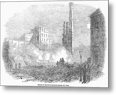 New York: Fire, 1853 Metal Print by Granger