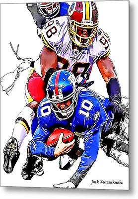 New York Giants Eli Manning -san Francisco 49ers Parys Haralson Metal Print by Jack K