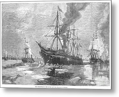 New York Harbor: Ice, 1881 Metal Print by Granger
