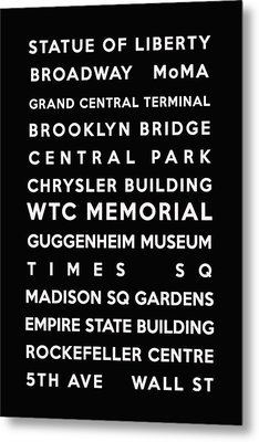 New York Metal Print by Georgia Fowler