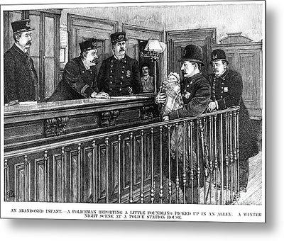 New York: Police Station Metal Print by Granger