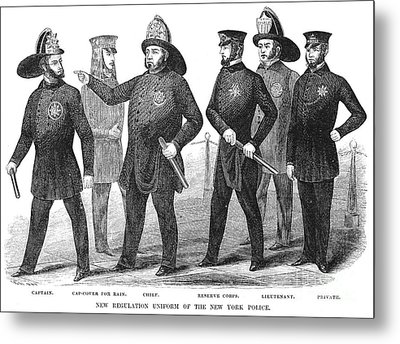 New York Policemen, 1854 Metal Print by Granger