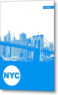 New York Poster Metal Print by Naxart Studio