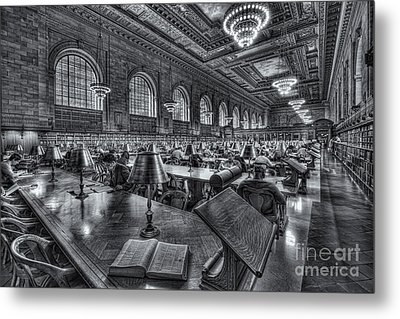 New York Public Library Main Reading Room Vi Metal Print by Clarence Holmes