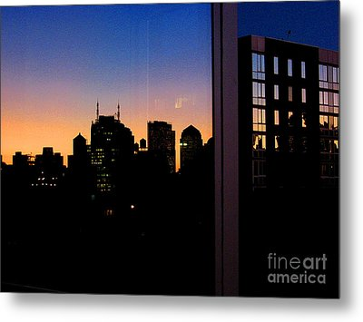 New York Reflections Metal Print